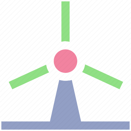 eco, ecology, energy, environment, power, turbine, wind, windmill icon
