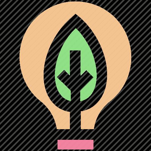 bulb, ecology, energy, environment, idea, innovative, leaf icon