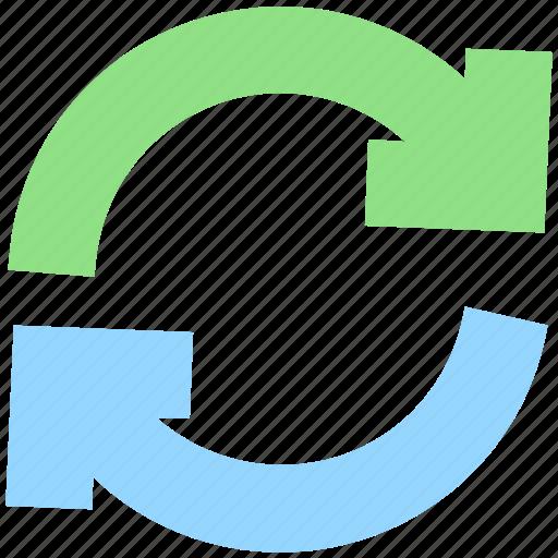 arrows, eco, ecology, environment, loading, nature, sync icon