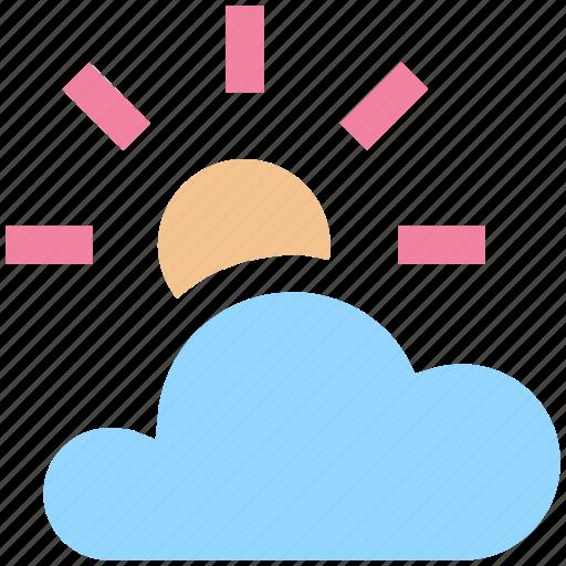 cloud, cloud sun, ecology, environment, sun, weather icon