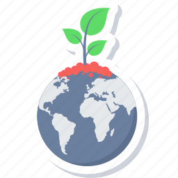 bio, earth, global, global plant, green, planet icon