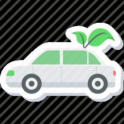 car, eco, eco friendly, ecology icon