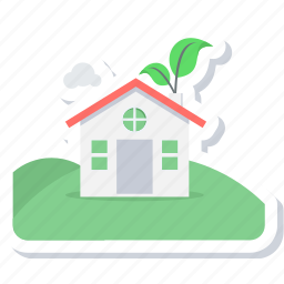 building, city, eco, green, house icon