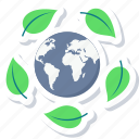 eco, ecology, green, leaf, nature, world icon