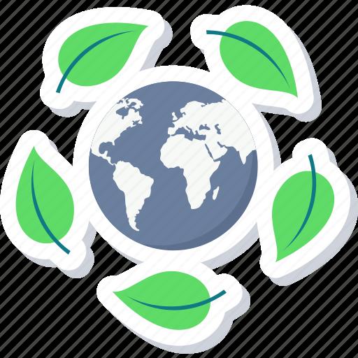 eco, ecology, green, leaf, nature, world icon