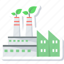 factory, green, location icon