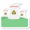 factory, nuclear, plant icon