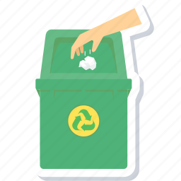bin, dustbin, recycle, throw, useme icon