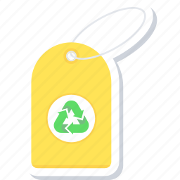 eco, ecology, tag icon