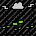agriculture, leaf, plant, rain, rainy, season icon
