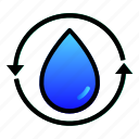cycle, ecology, enviroment, recycle, reuse, water icon
