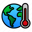 earth, ecology, global, planet, termometer, warming icon