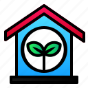 ecology, energy, enviroment, green, house, leaf icon