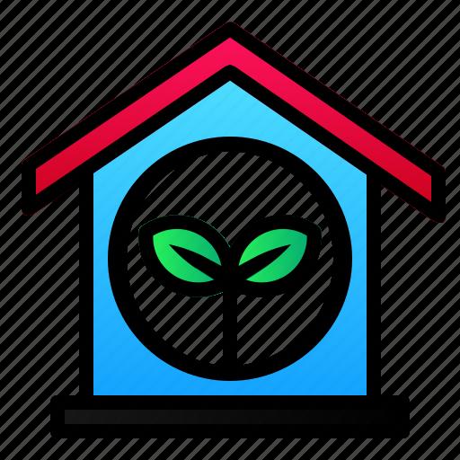 ecology, energy, enviroment, green, house, leaf icon