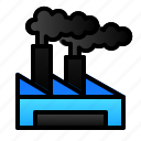 building, ecology, enviroment, factory, polution icon