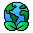 earth, ecology, enviroment, green, leaf, planet icon
