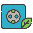 socket, energy, power, ecology, leaf, electricity, green