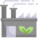 building, eco, eco factory, ecology, energy, green, nature icon