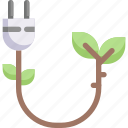 connector, eco, eco plug, ecology, energy, nature, socket icon