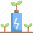 battery, eco, ecology, electric, energy, green energy, nature icon