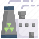 eco, ecology, energy, factory, nature, nuclear energy, radioactive icon