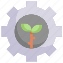 eco, ecology, energy, gear, nature, process, setting icon