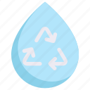 eco, ecology, energy, nature, recycle, saving, water icon