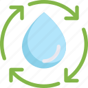 drop, eco, ecology, energy, nature, recycle, water cycle icon
