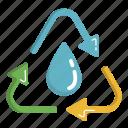 ecology, green, renewable, renewable energy, water icon