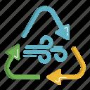ecology, green, renewable, renewable energy, wind icon