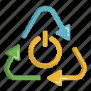 ecology, green, power, renewable, renewable energy icon