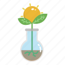 ecology, flask, green, nature, plant