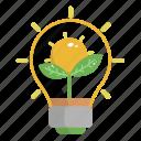 eco light, ecology, energy, green, nature icon