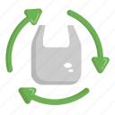 ecology, green, recycle, recycle bag, trash icon