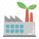eco, ecology, factory, green, industry icon