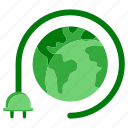 earth, ecology, energy, globe, planet, plug, world