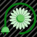 ecology, electricity, energy, environment, flower, nature, plug