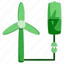battery, ecology, electric, electricity, energy, power, windmill icon