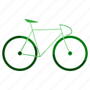 bicycle, bike, cycle, eco, ecology, environment, transport icon