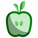 apple, ecology, environment, food, fruit, green, nature icon