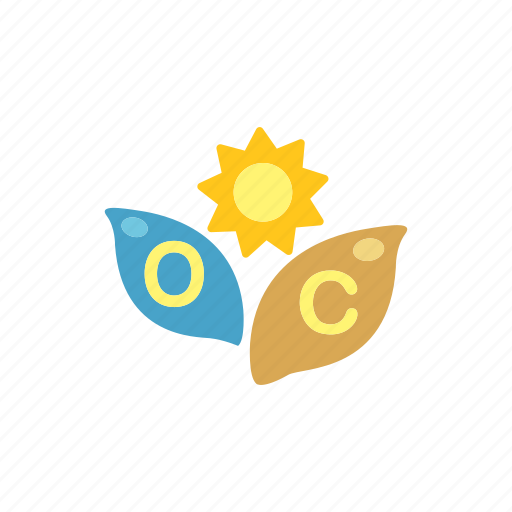 biology, energy, green, leaf, nature, photosynthesis, sunlight icon