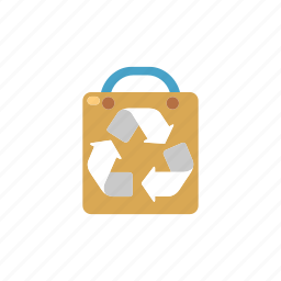 carry, cloth, fashion, natural, recycle bag, reusable, textile icon