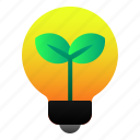 ecology, energy, green, lamp, leaf, light