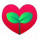 ecology, enviroment, green, hearth, leaf, nature icon