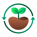 ecology, enviroment, forest, leaf, reforestation, tree icon