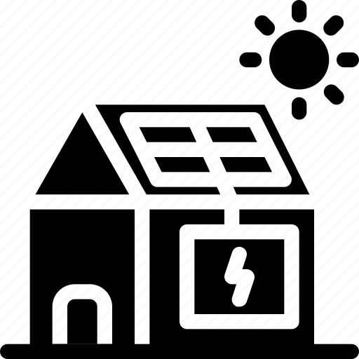 eco, ecology, electricity, energy, nature, solar energy, solar panel house icon