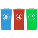 container, ecology, garbage, separate, nature, recycle, trash
