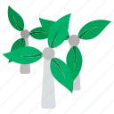 eco, ecology, electricity, leaf, mill, nature, wind icon