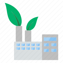 eco, ecological, ecology, industrial, nature, plant, saving icon