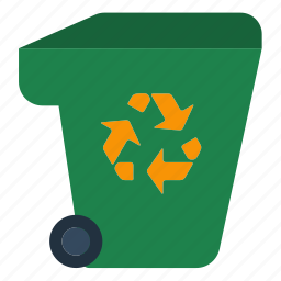 container, ecology, garbage, green, nature, recycle, trash icon